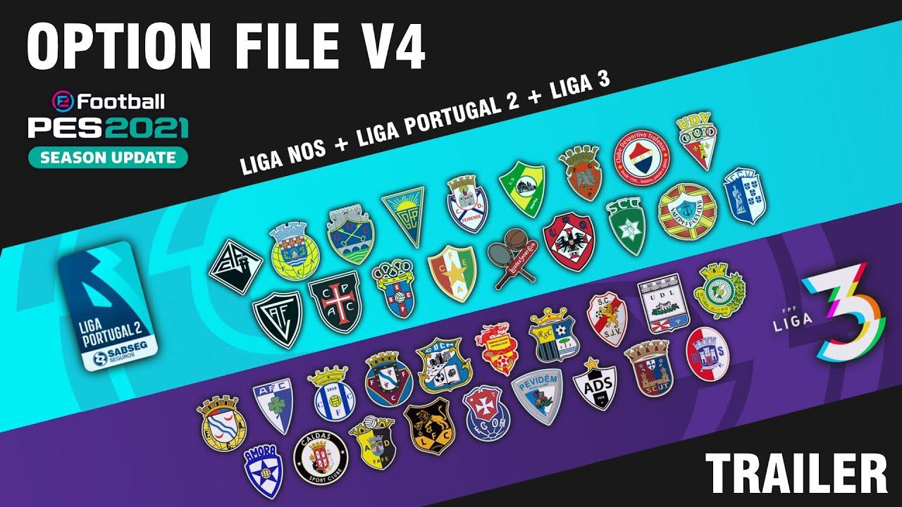 Option File V4 – Liga NOS + Liga Portugal 2 + Liga 3 | Salão de Jogos